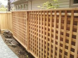 Wood Lattice Fence Panels Privacy Strangetowne Looks Sophisticated Wooden Fence Panels