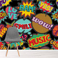 Retro Comic Strip Bam Boom Wallpaper Wall Mural