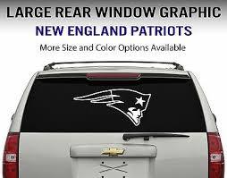 New England Patriots Window Decal Graphic Sticker Car Truck Suv Choose Size Ebay