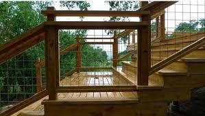 Goat Wire Fence Deck Railing Idea Deck Railing Ideas