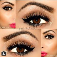 cute simple eye makeup for brown eyes