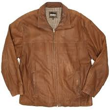 mens leather er jacket xl soft