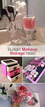 budget makeup storage ideas the
