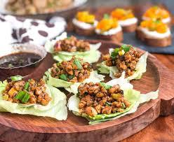 style crispy en lettuce wraps