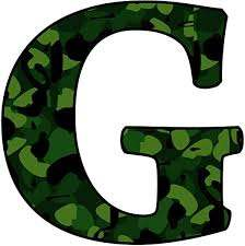 Amazon Com Camoflauge G Wall Decal Peel And Stick Military Camo Pattern Wall Art Letter G Vwaq 1717 Home Kitchen
