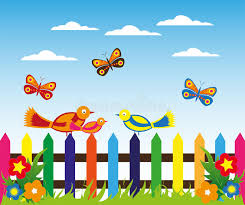 Garden Fence Background Stock Vector Illustration Of Fence 68329534