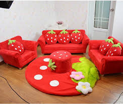 2020 Coral Velvet Children Sofa Chairs Cushion Furniture Set Cute Strawberry Style Couch For Kids Room Decor Christmas Birthday Gift From Jackylucy 99 03 Dhgate Com