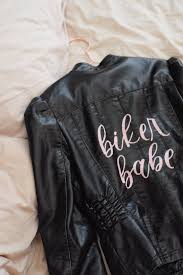 biker faux leather jacket