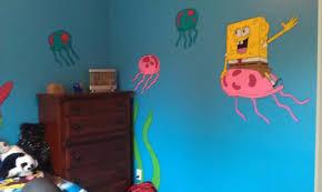 Hand Painted Kids Room Spongebob Kids Room Paint Kids Room Hand Painted
