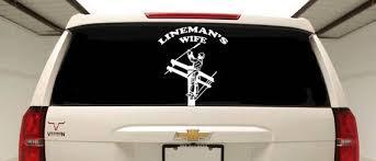 Lineman S Wife Car Decal Journeyman Lineman Window Truck Decal Lineman Sticker Decals Stickers Truck Decals Car Car Decals