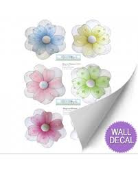 Flower Wall Stickers To Decorate Girls Room Daisy Mural Decals Vinyl Removable Sticker Bugs N Blooms