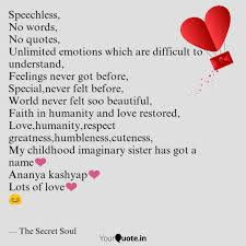 speechless no words no quotes writings by ayush kumar