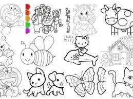 Link download tranh tô màu cho bé: hình cho bé tập tô màu con vật