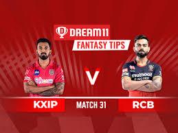 KXIP Vs RCB Dream11 Fantasy Cricket ...