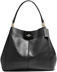lexy pebble leather shoulder bag black
