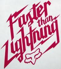 Fox Racing Faster Than Lightning Sticker Sticker Blimp Decals