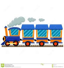 Kolorowy lokomotywa pociąg ilustracja wektor. Ilustracja złożonej ...