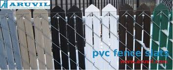 Pvc Fence Slats Are Becoming A Common Sight In Houses And Commercial Properties Fence Slats Chain Link Fence Fence