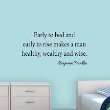 Early To Bed And Early To Rise Ben Franklin Quotes Wall Decal Vwaq