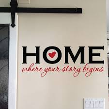 Home Where Your Story Begins Vinyl Wall Decal Home Decor Welcome Sign Wall Art Living Room Entry Way Foyer Wall Lettering Hh2175
