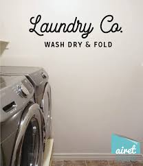 Amazon Com Laundry Co Wash Dry Fold Vinyl Decal Wall Art Decor Sticker Laundry Room Wall Decal Sign Handmade