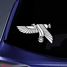 Amazon Com Bargain Max Decals Egyptian Bird Silhouette Sticker Decal Notebook Car Laptop 5 5 White Automotive