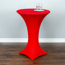 round stretch cocktail tablecloth red