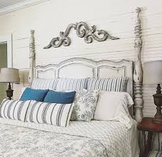 How To Decorate The Wall Space Above Your Arched Headboard The Lettered Cottage Arched Headboard Headboard Decor Master Bedrooms Decor