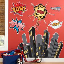 Superhero Comics Giant Wall Decals Walmart Com Walmart Com