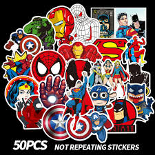 50pcs Avengers Stickers Marvel Super Hero Dc For Car Laptop Skatboard Case Decal For Sale Online