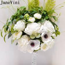 Janevini Bridemaids Accessoirs White Bridal Bouquet Artificial