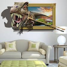 Hot Sale Capture The Dinosaur 3d Wall Sticker Pvc Animal Wall Art Decal For Living Room Kids Room Decoration Art Stickers For Walls Art Wall Decal From Jy9146 5 75 Dhgate Com