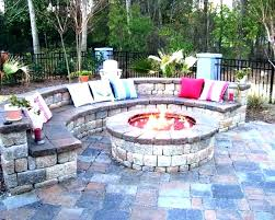 outdoor patio water feature fireplace