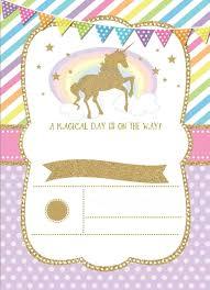 Pin De Leah Pender En Birthday Ideas Invitacion De Unicornio