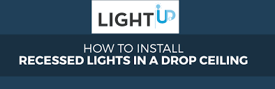 install recessed lights in a drop ceiling