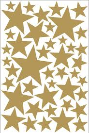 Gold Star Vinyls Decoration With Decorative Gold Star Vinyls Etsy Gold Star Wall Decals Star Wall Decals Star Vinyl