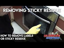 how to remove labels or sticky residue