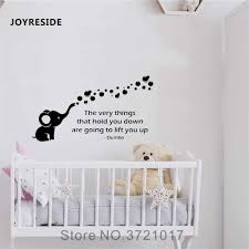 Joyreside Animal Wall Dumbo Elephant Decal Vinyl Sticker Decor Children Kids Room Baby Playroom Interior Decoration Mural A434 Wall Stickers Aliexpress