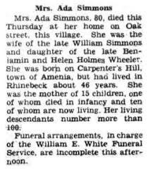 Ada Maria Wheeler Simmons (1867-1948) - Find A Grave Memorial