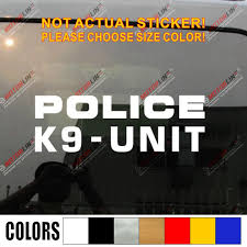 Police Dog K9 K 9 Unit Decal Sticker Car Vinyl Pick Size Color No Bkgrd Die Cut Car Stickers Aliexpress