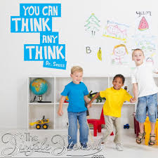 You Can Think Any Think Dr Seuss Wall Decal Sticker Wall Lettering Wall Decals The Simple Stencil