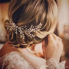 ivory pearl bridal hair b wedding