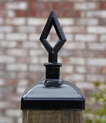 Wrought Iron Hollow Spear Post Cap For 4x4 Wood Composite Post Gate Madison Iron And Wood