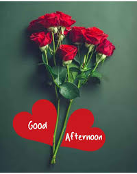 good afternoon images with love flowers
