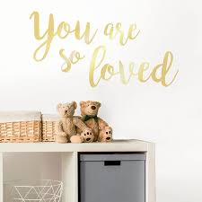 Wall Pops Metallic You Are So Loved Wall Quote Decal Wpq2668 The Home Depot
