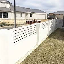 China White Aluminum Whole Privacy Horizontal Slat Fence Garden Fence Ornamental Fencing China Garden Fence Metal Fence