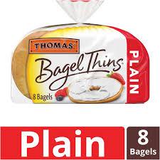 thomas plain bagel thins only 110