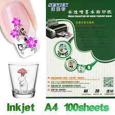 A4 Inkjet Clear Water Slide Transfer Decal Paper 100 Sheets Lot Transparent Waterslide Decal Sticker For Nail Glass Ceramic Stickers For Nails For Nails100 Sheet Aliexpress