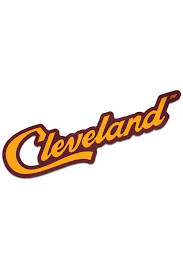 Cleveland Script Wine Gold Sticker Cle Clothing Co