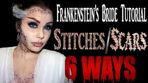makeup tips for bride of frankenstein